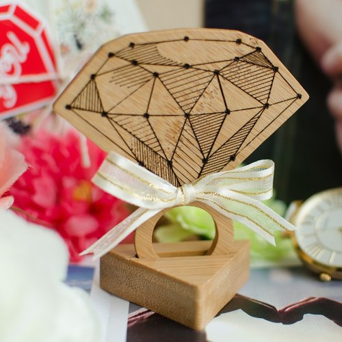 【Valentine's Day gift】 【Diamond shape card】 with lettering * Marriage props / confession card gift