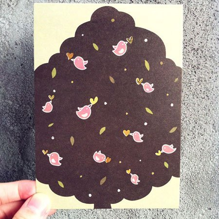 《KerKerland》Happy bird / Postcard