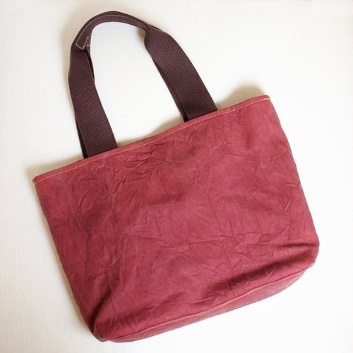 1pinfun dorsal shoulder canvas tote bag red *