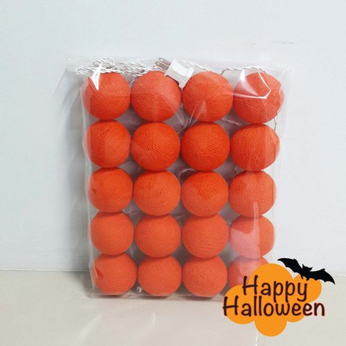 Cotton Balls String Lights: Halloween 1.