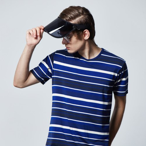Stone'As Stripe TEE T-shirt / Blue Stripe Long Tee T-shirt