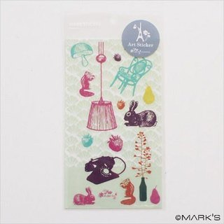 Marks Art Sticker Art Deco Sticker (Rabbit LZC-ST1-GN)