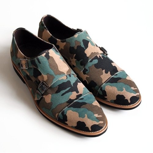 [LMdH] C1B07-49 hand-painted leather nubuck leather shoes Munch open Phut Twill camouflage ‧ ‧ Free Shipping
