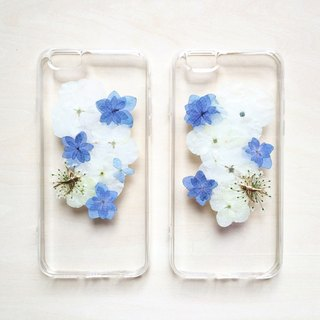 Pressed flowers Phone Case / Hydrangea