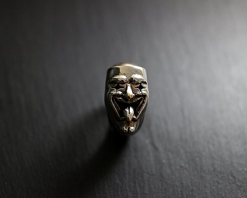 Hypocrite sterling silver hypocrisy clown ring
