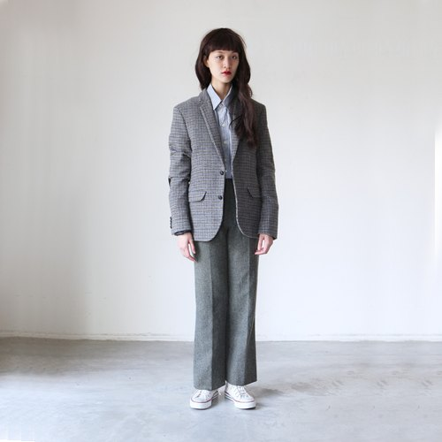 A ROOM MODEL - VINTAGE, CJ-2914 vintage plaid wool jacket with Shimokitazawa