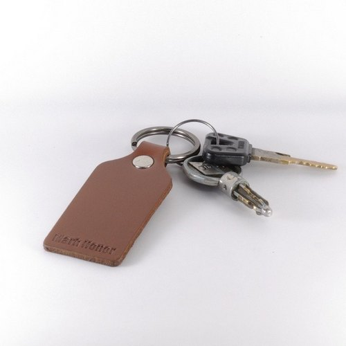 Key ring leather leather leather version of coffee