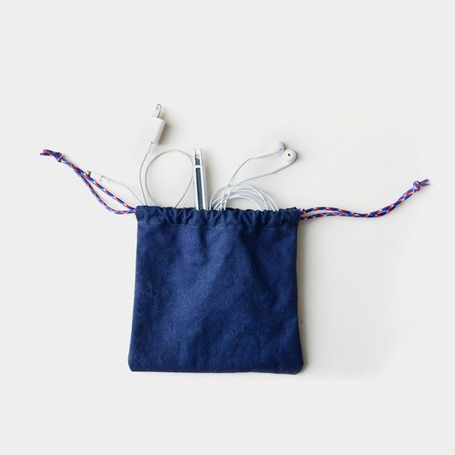 【Rain Breath Tips】 Washable canvas bag bag can be put headphones, debris, sunglasses, mobile power, charging line gifts