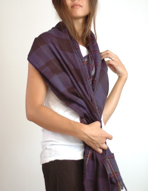 Purple Plaid Scarf