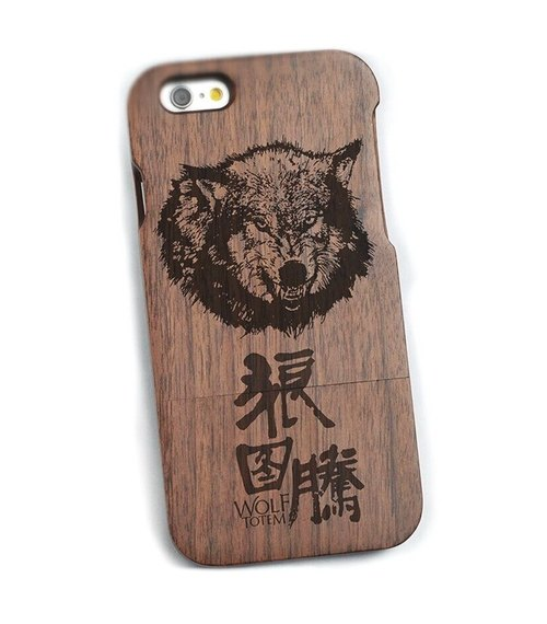 Wood iPhone mobile phone shell, pure wood Samsung Samsung mobile phone shell, wood iPhone 6s / 6s plus / 6 / 6plus / 5s / 5 / 5c / 4 / 4s mobile phone shell, wood Samsung Samsung galaxy S6 / Note4 / Note3 / S5 / S4 phone shell, creative gifts, Wolf Totem,