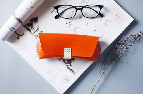 Handmade Leather Glasses case  | Engraving service for FREE.