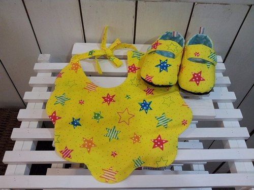 Painted star baby births Gift Set (12cm)