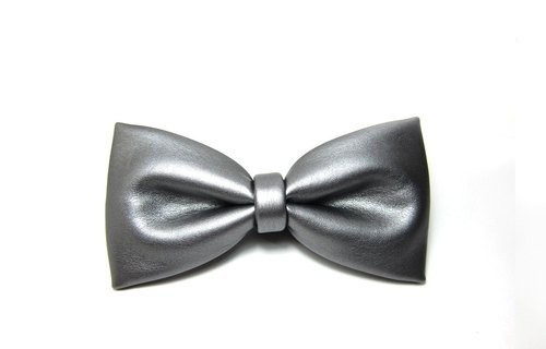▲ domineering silver tie -Hand-made Bow Tie