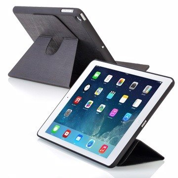 SIMPLE WEAR iPad Air Cover-Mate Deluxe hard shell special Magnetic Case - Black (4716779653922)