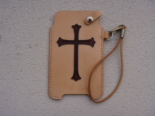 [ISSIS] Knights of the Holy Cross insignia modeling handmade leather case