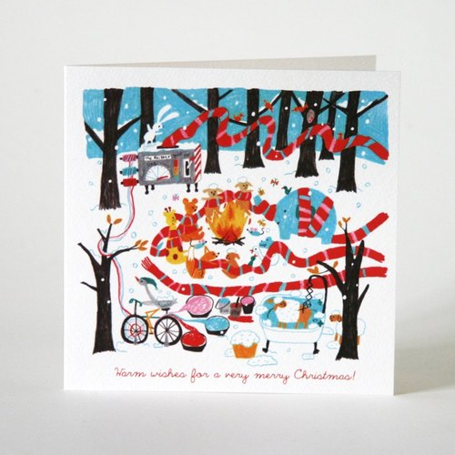 Christmas warm scarves Scarf Chirstmas Card