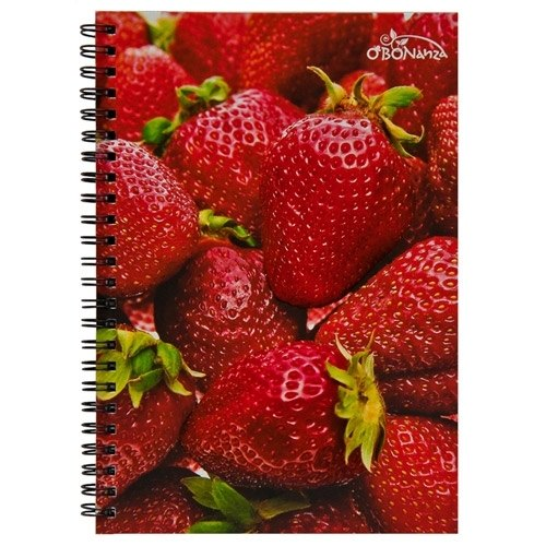 O'BON green cane notebook (A6) _ fruit series _Strawberry