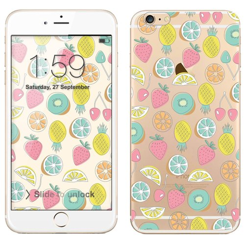 Transparent Phone Case - Summer Fruit (background download)
