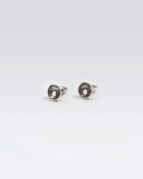Recovery by VIC WANG Sphere Earring designer handmade silver earrings joint