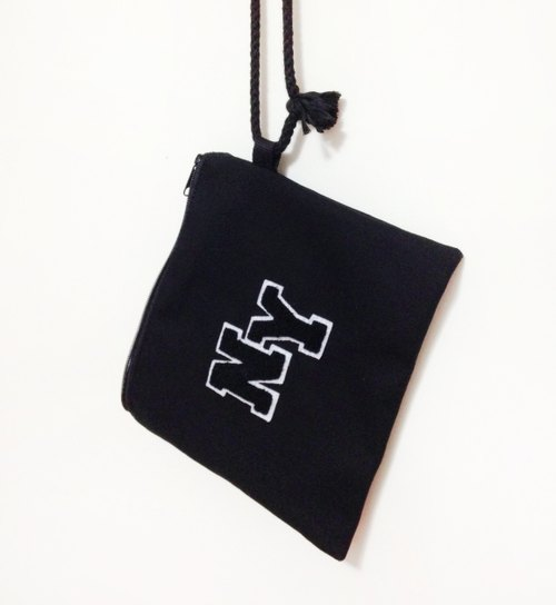 NY letter hanging plush handbags