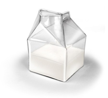 Half-pint milk cartons