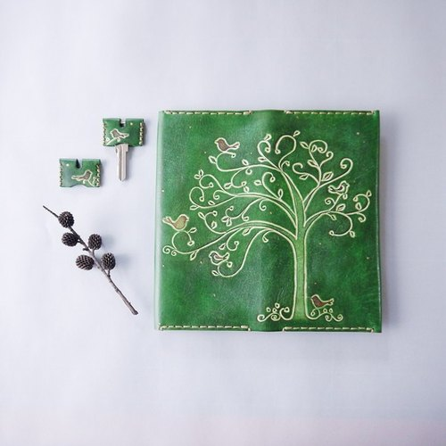 [Kaka & sun] long-Fold Wallet leather wallet handmade leather goods. Fairy tale