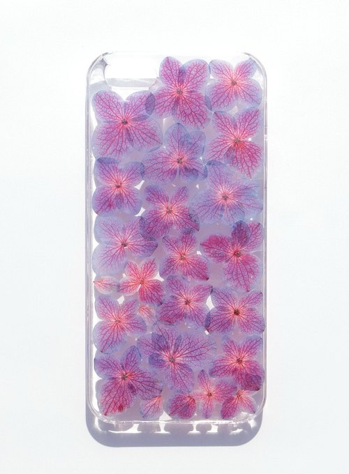 Anny's workshop hand-made pressed flower mobile phone protection shell for iphone 5 / 5S, hydrangea series
