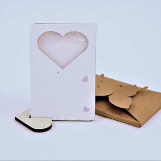 heart shape Nahann iRecki 30Voice Recording Photo Frame Card, Greeting Card,