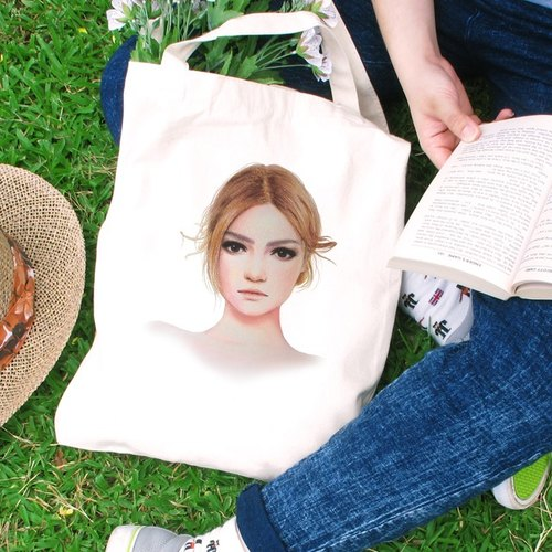 SYU cultural and creative design shall girl wind straight canvas bag