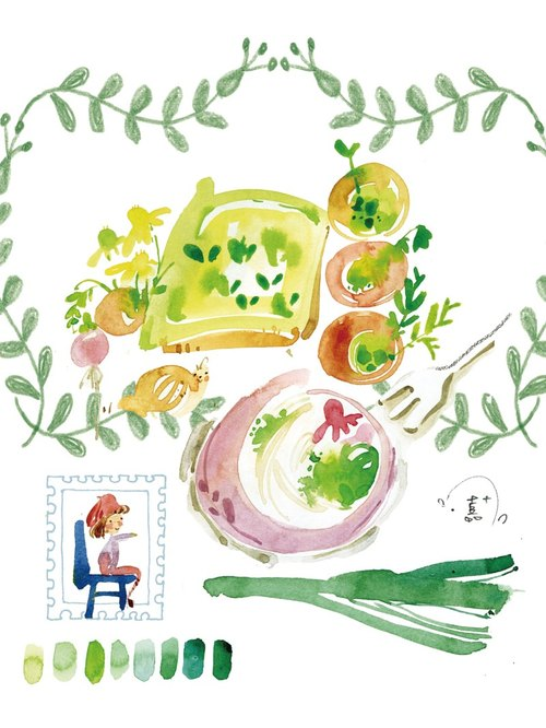 Herb Garden Postcards