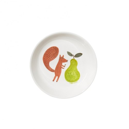 Squirrel and Pear child tray | Donna Wilson