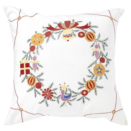 "Earth tree fair trade & eco- ""Embroidery Series"" - Christmas pillow (daytime) seasonal"