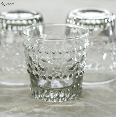 British n & amp; kuku cast glass flower cup