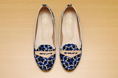 MCNelly Korea handmade flat shoes Clover - Black (NG Deals)