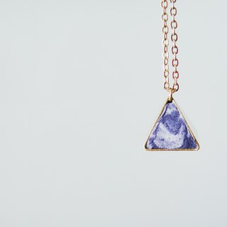 Triangle Pyramid Lilac Necklace-27