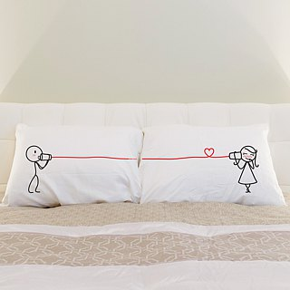 """Canphone"" Boy Meets Girl couple pillowcase by Human Touch"