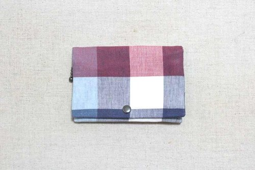 Multilevel purse - red and blue-dyed plaid