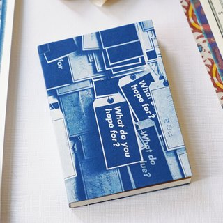 Handmade cyanotype Notebook - your hopes