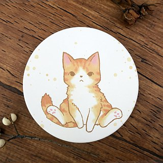 Bazaar // water-absorbing ceramic coaster // sweet orange gaze (cat)