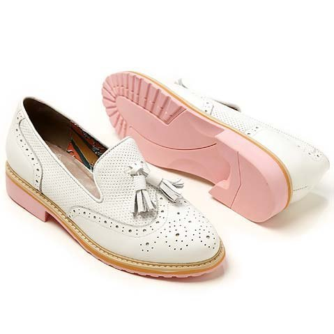 e'cho. Sweet Play foundation color flow Sule Fu fashion white shoe ║Ec14
