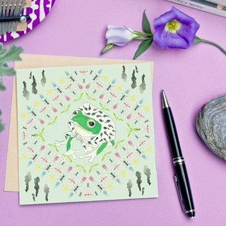 <Nutrients islands> Greeting Cards / Taipei tree frog (Single)