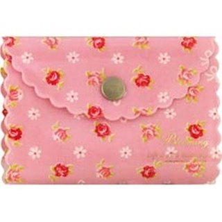 [Japanese] Frill LABCLIP series card storage folder (button) / pink