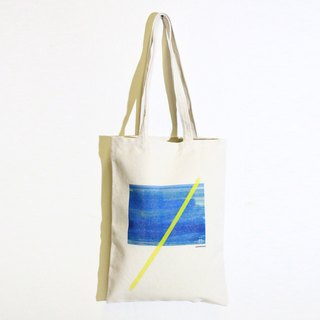 Thick pound cotton canvas shoulder bag. A sea water. Handbag
