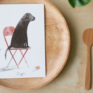 "Labrador Retriever illustration postcard 4""x6"""