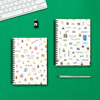 Boge stationery x taste life [25K coil hardcover checkered notes] two designs