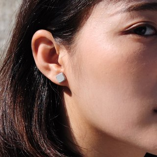 Square Concrete Earring | Relic Series