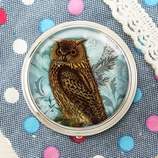 Owl - jewelry storage box storage box ︱ ︱ headset handicraft small objects storage box ︱ ︱ built round mirror side fashion accessories