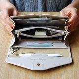 母親節-PLEPIC -Holiday旅程假期護照手拿皮夾-氣質杏灰,POJ92009