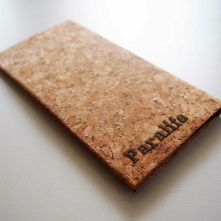 Paralife YOUR NAME's Cork Long Passport Holder Case Cover