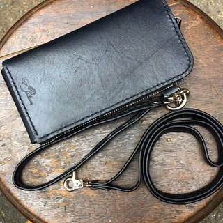 88Tailors leather zipper clutch / i6 mobile phone bag / wallet